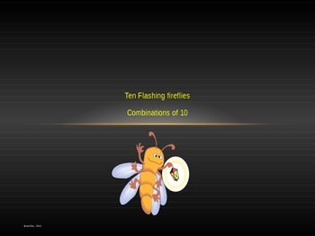 Combinations of 10 Flashing Fireflies Power Point