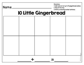 Gingerbread Man Math -- [Combinations of 10]