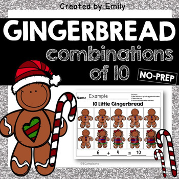 Gingerbread Man Math -- [Combinations of 10]