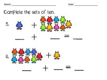 Combinations of Ten Monster Math
