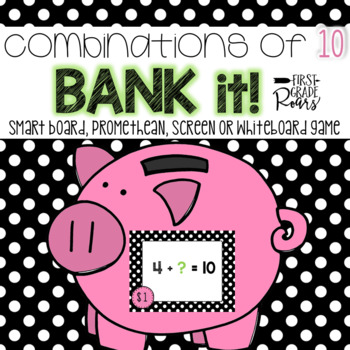 Combinations of Tens Bank It! Projectable Game