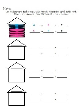 Combinations to 10  {Number Houses}
