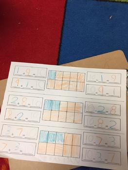 Combinations to 10 addition and subtraction ten frame
