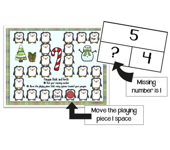 Combinations to 5: Winter Back and Forth Math Game