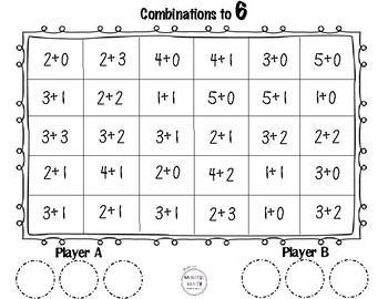 Combinations to 6