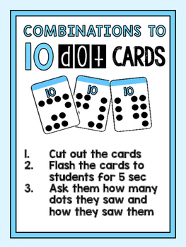 Combinations to ten dot cards