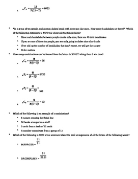 Combinatorics Test