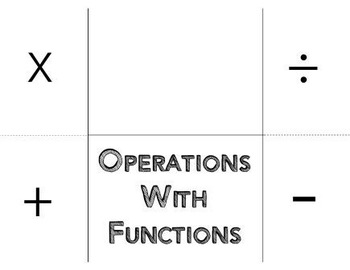 Combine Functions Operations Foldable Graphic Organizer Interactive Notebook