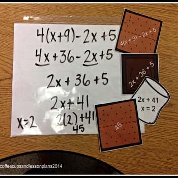 Combining Like Terms:  Interactive Math Activity