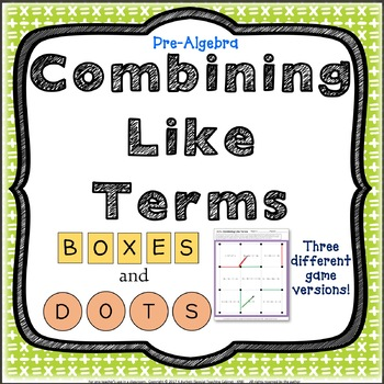 Combining Like Terms Pre-Algebra Game Review