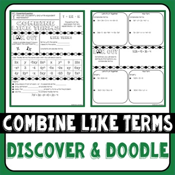 Combine Like Terms Doodle Notes