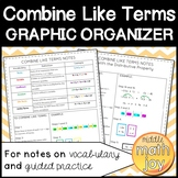 Combine Like Terms Graphic Organizer