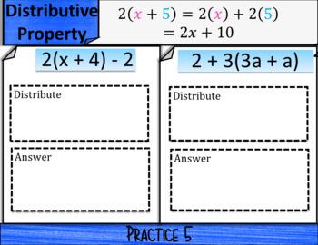 Combine Like Terms (positve #s): DIGITAL NOTES & SELF GRADING QUIZ