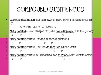 Back to Basics: Compound Sentences and Combining Sentences PowerPoint