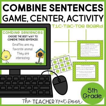 Combine Sentences Game | Combine Sentences Center | Combine Sentences Activities