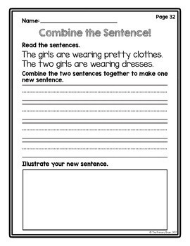 Combine the Sentence Writing Intervention Activity