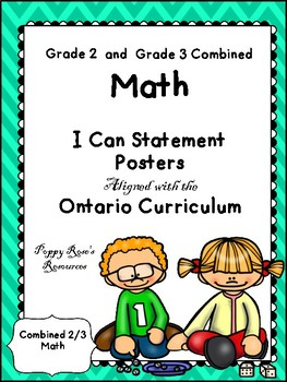 Combined 2-3 Math I Can Statements- Ontario