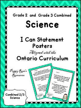 Combined 2-3 Science I Can Statements- Ontario