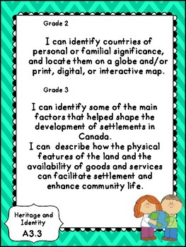 Combined 2-3 Social Studies I Can Statements- Ontario