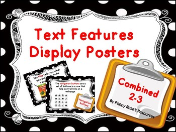 Combined 2-3 Text Features Display Posters