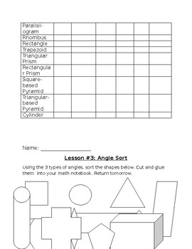 Combined 4/5 unit on angles and geometric figures! Ontario Curriculum