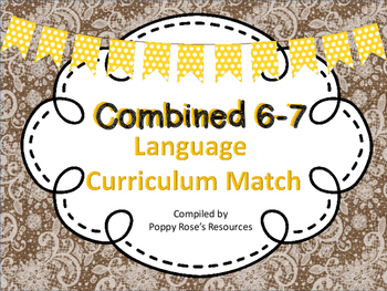 Combined 6-7 Language Curriculum Map - Saskatchewan