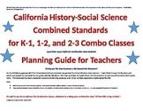 California History-Social Science Standards for K-1, 1-2,