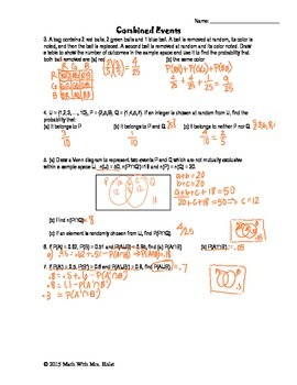 Combined Events Guided Notes for IB Math SL Topic 5.6