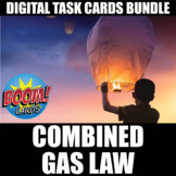 Combined Gas Law Digital Task Cards   Distance Learning  