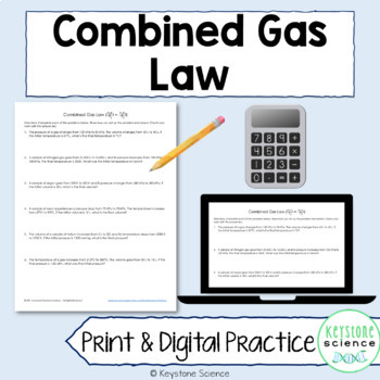 Combined Gas Law Problems with Answer Key Chemistry Gas Laws