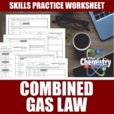 Combined Gas Law Worksheet | Print | Digital | Self-Gradin