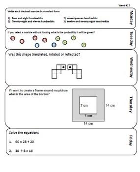 Combined Grade 4/5 Spiral Math