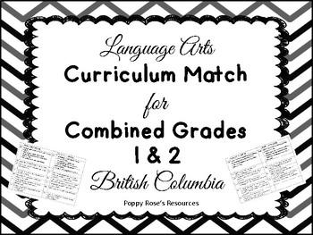 Combined Grades 1-2 Language Arts Curriculum Match - B.C.