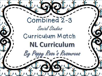 Combined Grades 2-3 Social Studies Curriculum Match - NL