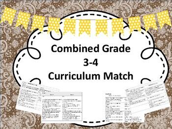Combined Grades 3-4 Curriculum Match NL