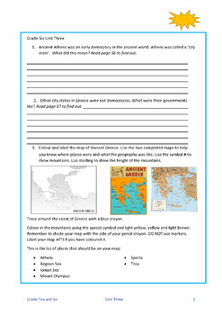 Combined Grades Five and Six Social Studies guides bundle
