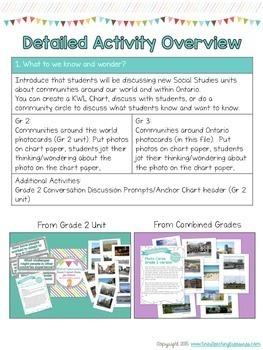 Combined Grades Social Studies: Grade 2/3 People and Environments Unit Companion