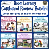 Distance Learning Combined Review BOOM Task Cards  Bundle