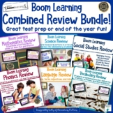 Combined Review Task Cards for Second Grade Bundle