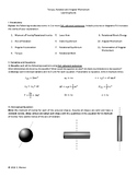 Torque & Angular Momentum, Temp & Heat, and Oscillations Learning Guides (3)