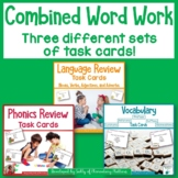 Word Work Review Task Cards: Phonics, Language, and Vocabulary