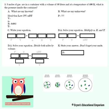 Combined and Ideal Gas Law Worksheet