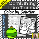 Combining Like Terms Worksheet Color by Number