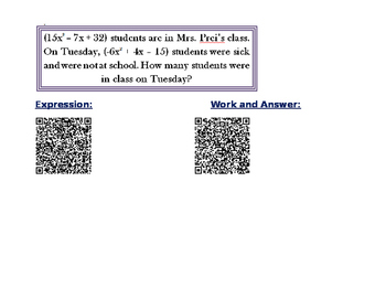 Combing Like Terms QR Codes