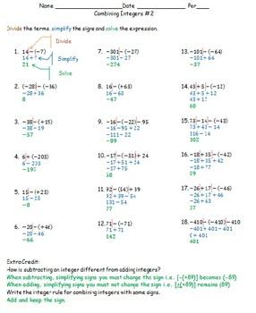 Subtracting Integers 2 CC 7.NS.1