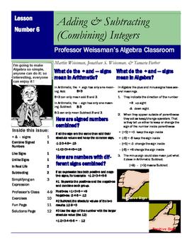 Algebra: Combining Integers