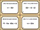 Simplifying Expressions (Combine Like Term) Task Cards (24 Cards)