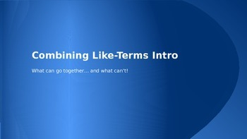 Combining Like-Terms
