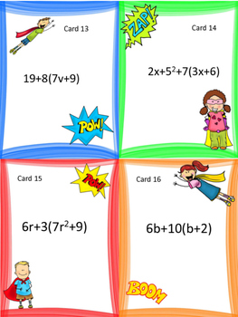 Combining Like Terms: Algebraic Expressions