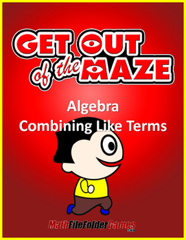 Combining Like Terms (Fun Mazes/Worksheets)